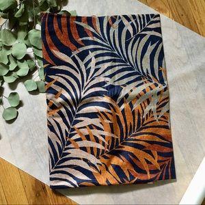 Vintage 80s 5th Ave Designs Autumn Palm Leaves